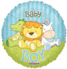 "18"" Baby Boy Jungle Animals Mylar Foil Balloon"