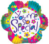 "18"" You're So Special Flower Junior Shape (single-sided) Mylar Foil Balloon"