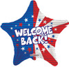 "18"" Welcome Back Patriotic Soldier USA Mylar Foil Balloon"