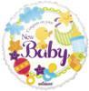 """18"""" New Baby Non-Foil Balloons"""