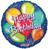 "36"" Birthday  In Blue Jumbo Mylar Foil Balloon"