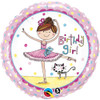 "18"" Birthday Girl Ballerina Mylar Foil Balloon"