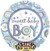 "28"" Singing Sweet Baby Boy Mylar Foil Balloon"