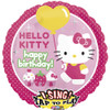 "28"" Singing Hello Kitty Birthday Mylar Foil Balloon"