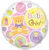 """18"""" Baby Girl Bear Non-Foil Balloons"""