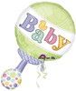 "31"" Tiny Bundle Rattle Shape Mylar Foil Balloon"
