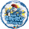 "18"" Smurfy Birthday Mylar Foil Balloon"