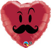 "18"" Mr. Mustache Mylar Foil Balloon"