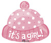 "18"" It's A Girl Hat Junior Shape Mylar Foil Balloon"