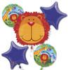 Jungle Animal Birthday  Bouquet Mylar Foil Balloons