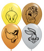 "5"" Looney Tunes Faces Assortment Latex Balloons"