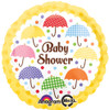 "17"" Baby Shower Bright Umbrella Mylar Foil Balloon"