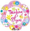"18"" Thinking Of You Daisy Junior Shape Mylar Foil Balloon"