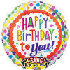 "28"" Singing Birthday Dots Mylar Foil Balloon"