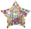 "36"" Birthday Star Inliner Jumbo Non-Foil Balloon"
