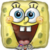 "17"" SpongeBob Square Face Mylar Foil Balloon"