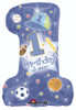 "28"" 1st Birthday All Star Boy Shape Mylar Foil Balloon"