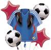 Soccer  Bouquet Mylar Foil Balloons
