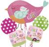 Tweet Baby Girl  Bouquet Mylar Foil Balloon