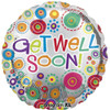 "36"" Get Well Soon Happy Dots Jumbo Mylar Foil Balloon"
