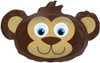 "14"" Bear Head Air-Fill  Mylar Foil Balloon"