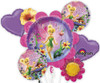 Tinkerbell Birthday Wishes  Bouquet Mylar Foil Balloons