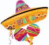 "32"" Fiesta Fun Cluster Shape Mylar Foil Balloon"