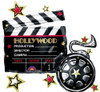 "30"" Hollywood Clapboard Shape Mylar Foil Balloon"