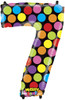 """40"""" Megaloon Mighty Bright Number 7  Mylar Foil Balloon"""