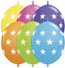 "12"" Big Stars Quick Links Tropical Assortment Latex Balloons"