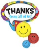 "42"" Thanks Smiley Stacker Shape Balloon"