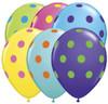 """11"""" Big Polka Dots Multi-Color Assortment Balloons"""