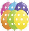 "6"" Big Polka Dots Quick Links Tropical Assortment Balloons - Bag of 50"