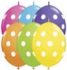 """6"""" Big Polka Dots Quick Links Tropical Assortment Balloons - Bag of 50"""