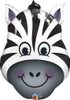 "32"" Zany Zebra Shape Balloon"