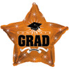 "17"" Congrats Grad Orange Star Foil Balloon"