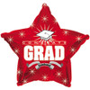 "17"" Congrats Grad Red Star Foil Balloon"