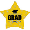 "17"" Congrats Grad Yellow Star Foil Balloon"