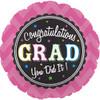 "17"" Grad Chevron Pink Foil Balloon"