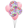 "Mother's Day Bouquet - Three 18"" Mylar and Three 11"" Solid Color Latex"