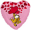 "18"" Garfield & Pooky Floating Up with Hearts"