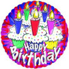 "18"" Birthday Cupcakes and Candles Mylar Foil Balloon"