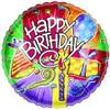 "18"" Happy Birthday Party Favors Mylar Foil Balloon"
