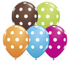 "11"" Polka Dots RAS Assortment Latex Balloons"