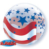 "22"" Patriotic Stars and Stripes Bubble Balloon"