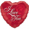 "18"" I Love You Red Rose Mylar Foil Balloon"