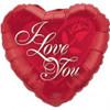 "18"" I Love You Red Rose Mylar Foil Balloon"