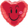 "18"" Naughty Smile & A Kiss Mylar Foil Balloon"
