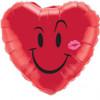 "18"" Naughty Smile & A Kiss Mylar Foil Balloon"