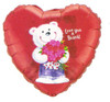 "18"" Love You A Bunch! Mylar Foil Balloon"